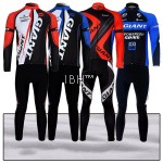 Giant team Alpecin peloton long sleeve cycling jersey 3d opadding long pants