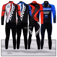 Giant team Alpecin peloton long sleeve cycling jersey 3d padding long pants