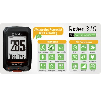 Bryton Rider 310 310e 310t speedometer ANT+ cycling computer | Magene