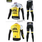Long sleeve cycling jersey 3D padded long pants Cannondale Tinkoff Lotto Lampre Merida