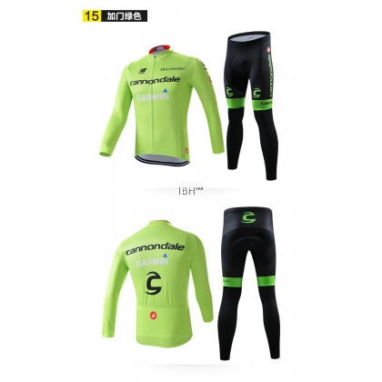 Cannondale Tinkoff Lotto Lampre Merida Long sleeve cycling jersey 3D padded long pants