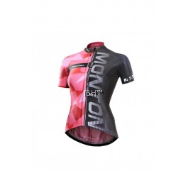 MONTON Womens Short Sleeve Cycling Jersey Mulsanne bright pink