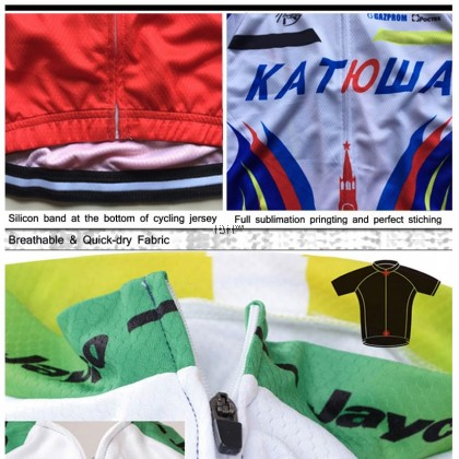 5 in 1 Bianchi Team short sleeve cycling jersey set