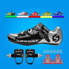 Sidebike road shoe clipless cycling + zeray 110 pedal cleats