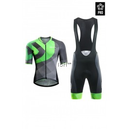 2017 Monton Bike Jersey Men PRO ARG Verdant Green Blue bib set