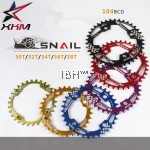 2017 snail 104 BCD Deore MTB chainring Oval round 30T 32T 34T 36T 38T Narrow Wide
