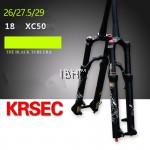 2018 KRSEC XC50 120mm travel MTB lightweight fork BLACK Rockshox Reba