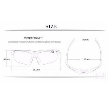 Robesbon 5 Lens UV400 Cycling Sunglasses 0089 MAX-G SPORT Eyewear Eye Protector Driving Hiking Cycling