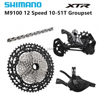 Shimano XTR M9100 12 Speed MTB Groupset 10-51T 4 piece Set