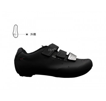 Zeray EY110 strap Velcro road shoe (black silver)