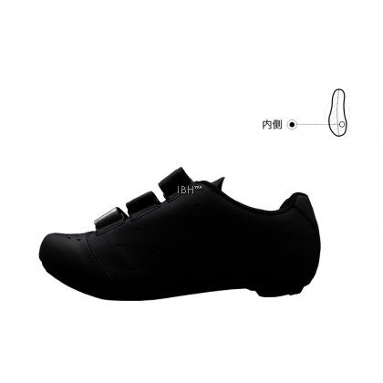 Zeray EY110 strap Velcro road shoe (black silver)