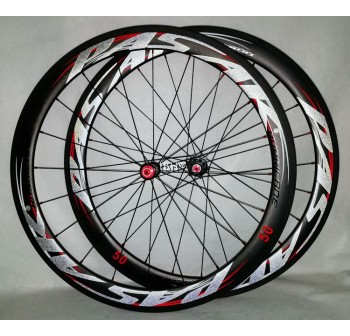PASAK roadbike carbon clincher wheelsets lightweight aero rim 40 50 55mm straight pull spokes Hurricane hb15 700C