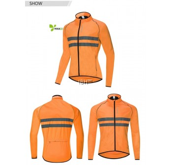Cycling Jacket High Visibility MultiFunction Jersey Road MTB Bike Bicycle Windproof Quick Dry Rain Coat Windbreaker