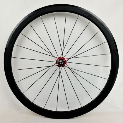 2021 PASAK 40mm clincher high profile road bike wheelset 700c( all black, red hub)