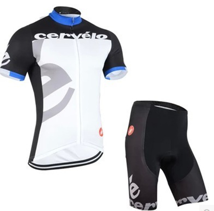 Shorts sleeve cycling jersey cervelo castelli padded
