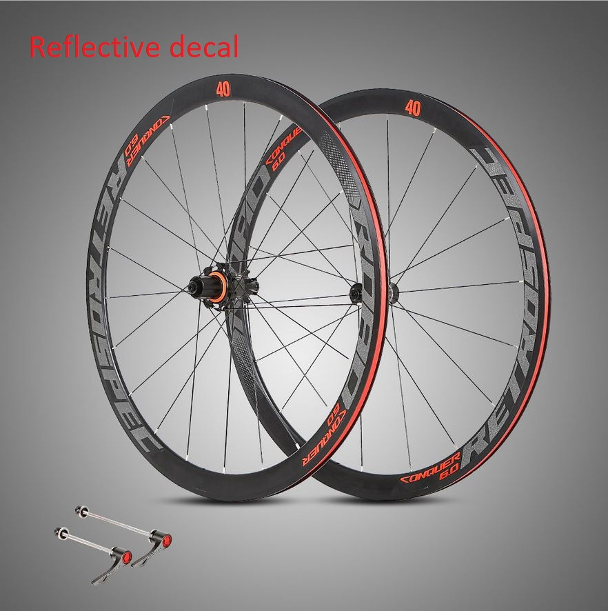 Twitter RS wheelset 700c 40mm Aero carbon hub Road ALU clincher